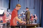 Ein bemerkenswertes Solo lieferte Jan Wohlwend auf dem Xylophon ab. (Bild: Corinne Hanselmann)