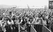 Das Publikum am damals grössten Schweizer Open Air. (Bild: pd/Andreas Anderegg)