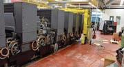 Sechs-Farben-Druckmaschine geht zurück an den Hersteller (Bild: Roger Fuchs)