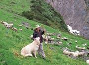 Otto Knöpfli vertritt Hirten in der ganzen Schweiz. Mit dabei ist immer sein Hirtenstab. (Bild: PD)