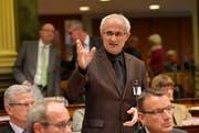 Eine Aufnahme von Nino Cozzio aus dem Jahr 2014 im St.Galler Kantonsrat. Die Krebserkrankung wurde im Sommer 2015 diagnostiziert. (Bild: Regina Kühne/Archiv)