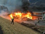 Brand im Industriegebiet. (Bild: Liechtensteiner Landespolizei)