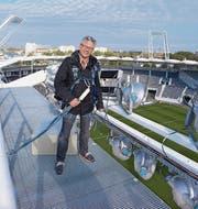 Wendelin Manser auf dem Stadium Municipal in Toulouse, einem von zehn Stadien der Fussball-Europameisterschaft in Frankreich.