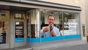 Kein Krawatten-Geschäft: Das ist der Wahlladen von Alexander Salzmann. (Bild: PD)