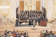 Brillant: Kreuzlinger Oratorienchor mit Solisten am Sonntagabend in der Kirche St. Stefan. (Bild: pd/Mario Gaccioli)
