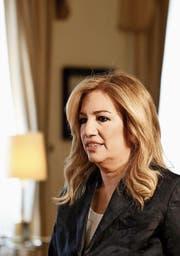 Die griechische Politikerin Fofi Gennimata. (Bild: Kostas Tsironis/Getty (Athen, 24. Juli 2015)t)