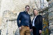 Das Wirtepaar: Joël Bollinger und Tatjana Moser ziehen für ihren Traum an den Rhein. (Bild: Donato Caspari)