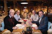 Organisatoren und Helfer: Ewgeni Obreschkow, Roland Baur, Guido Rutz und Daniel Lehmann (von links). (Bild: Ralph Ribi)