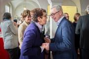 Tritt die Nachfolge von Marianne Koller (links) an: FDP-Politiker Dölf Biasotto. (Bild: Urs Bucher)