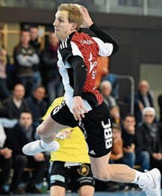 Fortitudos bester Torschütze Lucius Graf war im dritten Saisonderby gegen St. Otmar 14-mal erfolgreich. (Bild: Ralph Ribi (Gossau, 7. Februar 2018))
