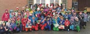 Vom Kindergarten bis zur Oberstufe: Die Sieger des Wildhauser Schülerskirennens. (Bild: pd)
