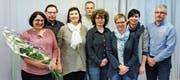 Petra Grbic-Guntli, Udo Graf, Andrea Beck, Hansjürg Künzler, Silvia Bevivino, Corinne Bänziger, Tanja Keller und Tobias Guntli (von links). (Bild: PD)