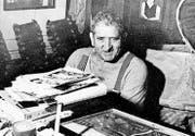 Konrad Zülle in seinem «Biotop» etwa um 1988.