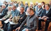 Heimkatze Sweety geniesst ihren Auftritt an der Generalversammlung des Regionalen Alterszentrums Tannzapfenland. (Bilder: Christoph Heer)