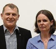 Felix Bischofberger, Präsident CVP Region Rorschach, und Kathrine Keller Haan. (Bild: pd)