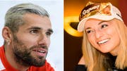Profifussballer Valon Behrami und Skistar Lara Gut. (Bild: Keystone)
