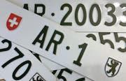 Der Kanton erzielte bis anhin für die einstelligen Autonummern die höchsten Preise. (Bild: pd)