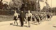 Die Jungwacht Weinfelden 1952 in Einsiedeln. (Bild: PD)