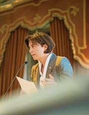 Regierungsrätin Monika Knill betont, dass es an Lehrplänen immer Kritik gibt. (Bild: Reto Martin)