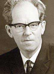 Rudolf Schümperli, Regierungsrat (SP) von 1954 bis 1972. (Bild: Staatsarchiv des Kantons Thurgau)