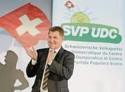 Toni Brunner tritt nach acht Jahren als Präsident der SVP zurück. (Bild: ky/Laurent Gilliéron)