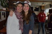 Astrid und Silvana Bischofberger, Mutter und Schwester von Silbermedaillen-Gewinner Marc Bischofberger. (Bild: Roger Fuchs)