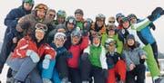 Die Schneesportler mit vollem Elan beim Fototermin. (Bild: pd)