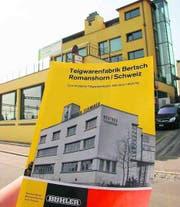 Früher und heute: Das Gebäude der ehemaligen Teigwarenfabrik Bertsch an der Neustrasse. (Bild: Christa Kamm-Sager)