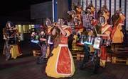Das Monsterkonzert der Guggenmusik «Gämselibögg» sowie der Fasnachtsumzug in Gams wurden vom Gemeinderat und der Kantonspolizei St. Gallen bewilligt. (Bild: Archiv Corinne Hanselmann)