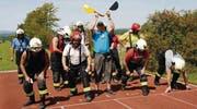 Die Feuerwehr Schlatt greift in das Geschehen um den «schnellsten Schlatter» aktiv ein. (Bild: Achim Holzmann)