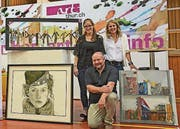 Die Gewinner (von links), Leonie Singer Dino Koch und Esther Huser. (Bild: pd)