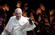 Eine Delegation des Bundesrates unter der Leitung von Bundespräsident Alain Berset werde Papst Franziskus empfangen und mit ihm zu einem offiziellen Gespräch zusammenkommen. (Bild: MATT ROURKE (POOL, AP))