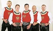 Die Band Rebellion im Zillertal 90–95 mit Marc Pircher (Mitte) wird am Open Air in Wildhaus alte Zeiten wieder aufleben lassen. (Bild: PD)