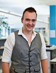 Zwischen seinen Abschlussprüfungen fand Christian Vetsch Zeit für einen Besuch in der W&O-Redaktion. (Bild: Heini Schwendener)