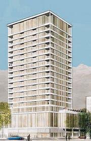 60 Meter hoch soll der Turm im Buchser Zentrum werden. (Bild: pd)
