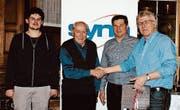Martin Imhof, August Kolb, Markus Noser und Ernst Zülle. (Bild: PD)