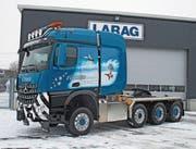Der neue Lastwagen kurz vor der Auslieferung. (Bild: PD)