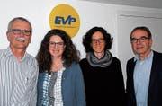 Sie stellten die Schwerpunkte 2018 vor: Urs-Peter Beerli, Elisabeth Rickenbach, Nina Beerli und Wolfgang Ackerknecht. (Bild: Kurt Peter)