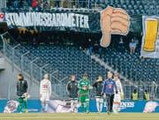 Der FC Luzern ist das schwächste Team der Rückrunde – und enttäuscht seine Anhänger auch in Bern. (Bild: ky/Peter Klaunzer)