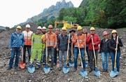 Am Donnerstag war offizieller Baubeginn des neuen Reservoirs «Aspe» in Frümsen. (Bild: Katharina Rutz)