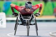 Marcel Hug am 800-Meter-Final an den Olympischen Spielen in Rio im September 2016. (Bild: Keystone)