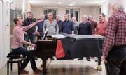 Der Männerchor Heiden will das gemeinsame Singen, die Begegnung zelebrieren. (Bild: Urs Bucher (Heiden, 12. März 2018))
