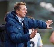 «Wir bleiben guter Dinge», sagt FC-Wil-Trainer Konrad Fünfstück nach der vierten Heimniederlage hintereinander. (Bild: Eddy Risch/Keystone)
