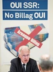 Bezeichnet die SRG als «Juwel»: Gewerbeverbandsdirektor Hans-Ulrich Bigler. (Bild: Peter Schneider/Keystone)