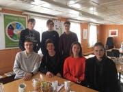 Haben den diesjährigen Pallotti-Preis erhalten: Matthias Koch, Lars Pataky, Kai Meier (oben von links), Mark Csurgaj, Damarin Bartolini, Aisha Frischknecht und Magdalena Herceg (unten von links). (Bild: PD)