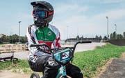 Auf dem BMX-Velo ist Cédric Butti in seinem Element; er trainiert pro Woche 15 Stunden. (Bild: Thi My Lien Nguyen (Weinfelden, 3. August 2017))