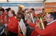 Die Musikgesellschaft Alpenrösli Sax unterhielt die Festbesucherinnen und -besucher mit toller Musik.
