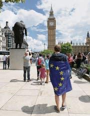 Protest gegen den Brexit in London: Die britischen EU-Befürworter geben nicht auf. (Bild: ap/Tim Ireland)