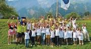 Die heutige Jungwacht zusammen mit Blauring im «Jubla»-Sommerlager 2013 in Muotathal. (Bild: pd)