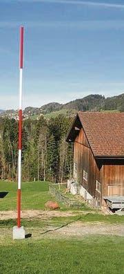 Geometer-Denkmal in Teufen, Dietenschwendi. (Bild: H. R. Fricker)